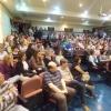 Auditório da ABO-PR ficou lotado para a assembleia desta terça-feira.