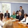 Reunião entre representantes do Sismuc, a vice-prefeita Mirian Gonçalves e vereadores.