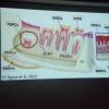 A palestra da Dr.ª Moira levou informação sobre células-tronco aos CDs.