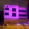 Em outubro a cor da fachada do CRO/PR, à noite, será o rosa.